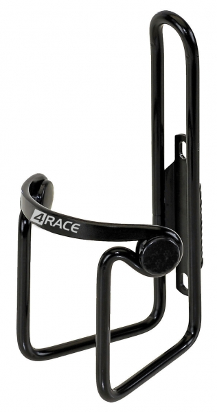 košík 4RACE Al černý s peckami