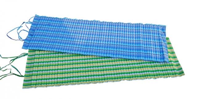 lehátko plážové rolovací 170x55x1,5cm, modré