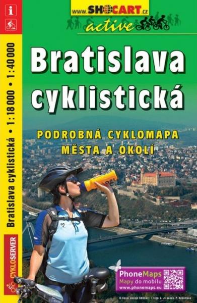 Mapa cyklo Bratislava cyklistická