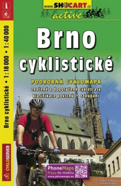 mapa cyklo Brno cyklistické
