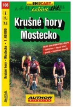 mapa cyklo Krušné hory,Mostecko,106