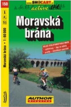 mapa cyklo Moravská brána,150