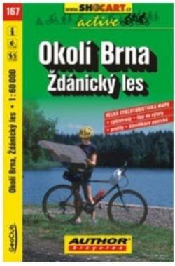mapa cyklo Okolí Brna,Ždánický les,167