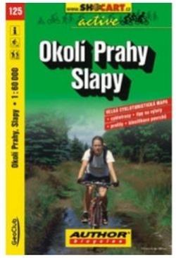 mapa cyklo Okolí Prahy,Slapy,125
