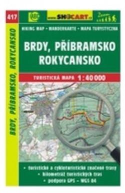 mapa cyklo-turistická Brdy,Příbramsko,417