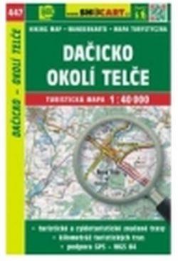 mapa cyklo-turistická Dačicko,okolí Telče,447