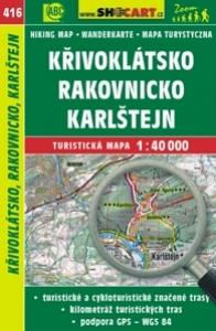 mapa cyklo-turistická Křivoklátsko,Karlštejn416
