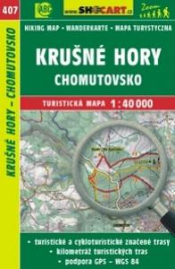 mapa cyklo-turistická Krušné hory,Chomutov,407