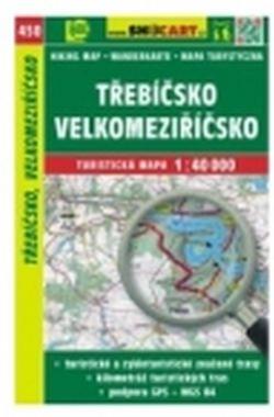 mapa cyklo-turistická Třebíčsko,Velkomeziř.,450