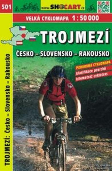 mapa cyklo-turistická Trojmezí CZ-SK-A, SH501