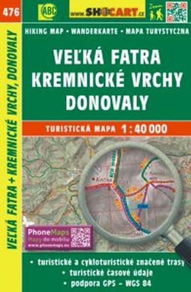 Mapa cyklo-turistická Velká Fatra, Krem. vrchy, 476