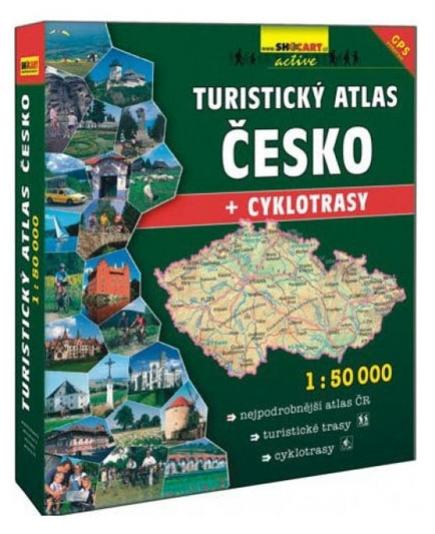 Mapa turistický atlas Česko 1: 50 šanon