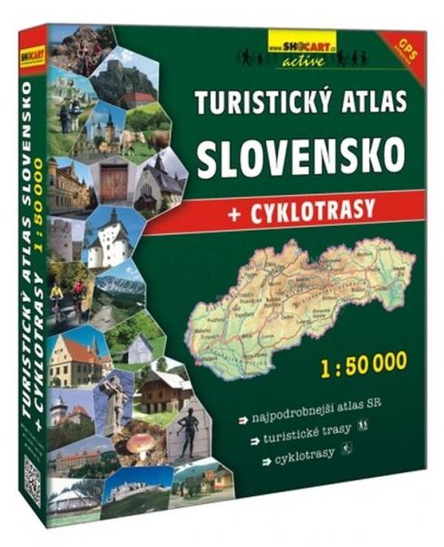 Mapa turistický atlas Slovensko 1: 50 šanon