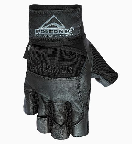 rukavice Poledník fitness MAXIMUS černé, L