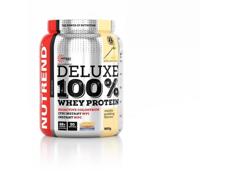 nápoj Nutrend DELUXE 100% WHEY 900g čokoláda+mandle