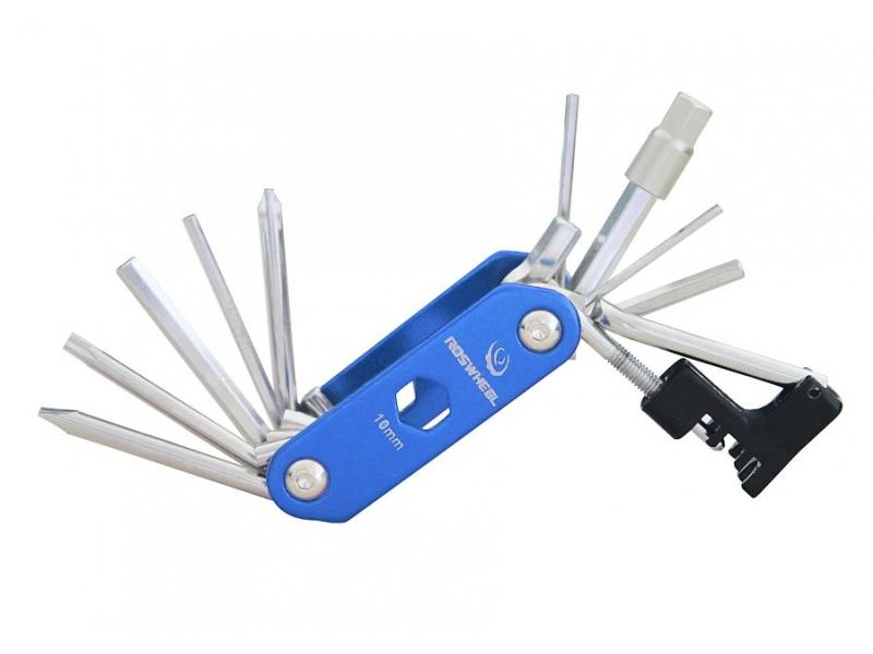 Klíče multi HAVEN - zavírací modrá s nýtovačem