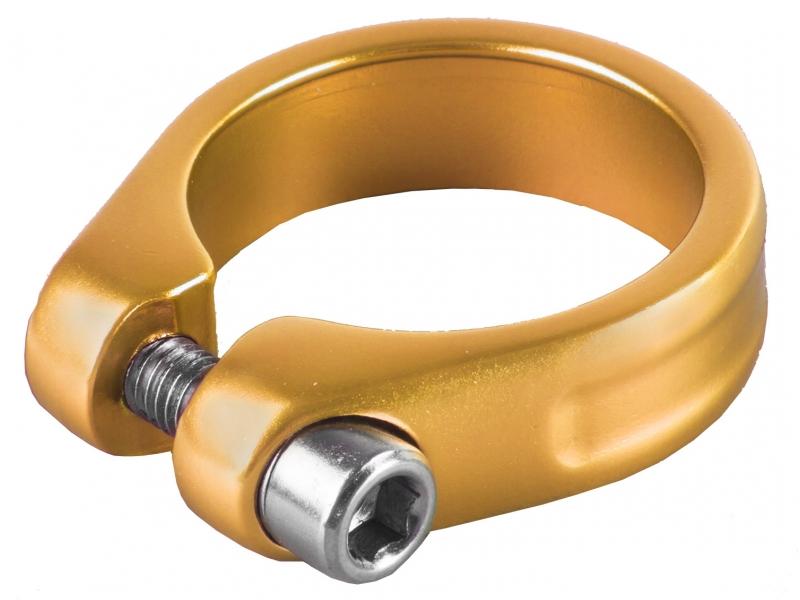 objímka sedlovky M-Wave Al 31.8 zlato-oranžová anodizovaná