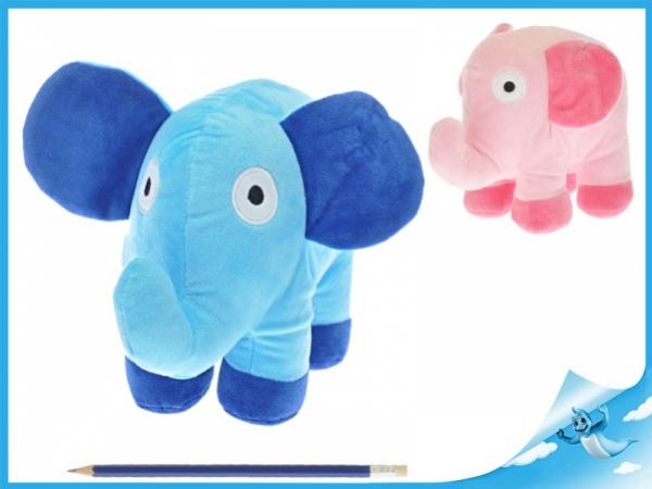 plyšové slon 23x17cm, modrý