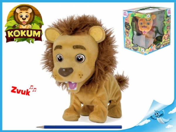 plyšový lvíček Kokum 26cm reaguje na české povely