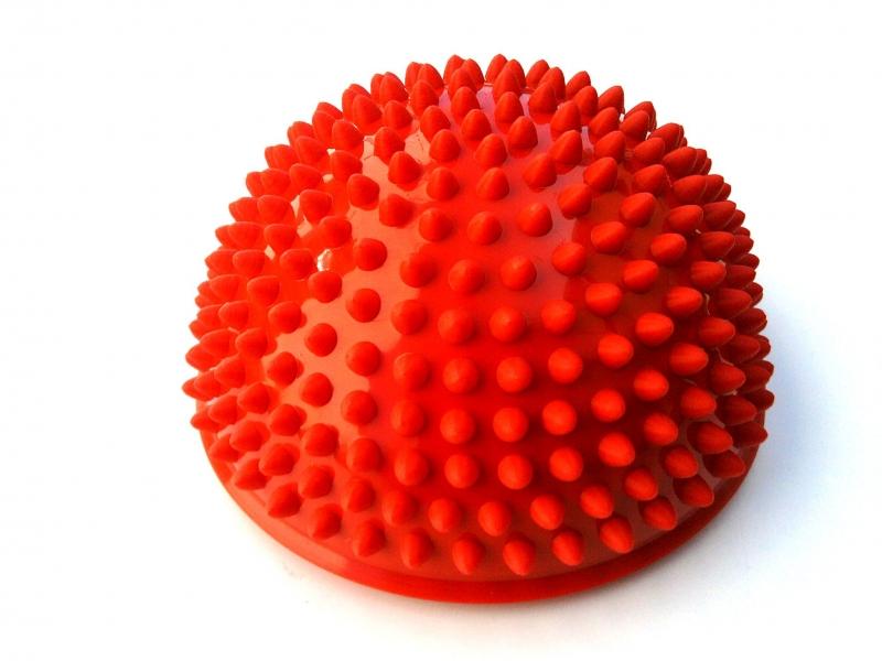 podložka masážní - ježek červený