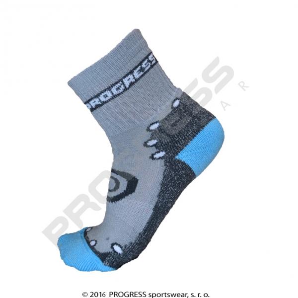 ponožky dětské Progress KBS šedo/modré, 26-29