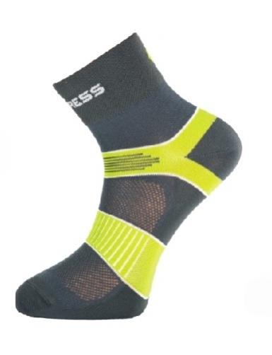 ponožky Progress CYCLING šedá/zelená, 3-5
