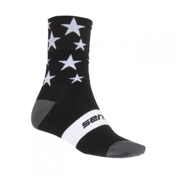 Ponožky SENSOR STARS černo/bílé