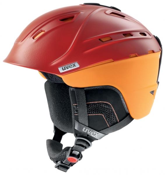přilba lyžařská UVEX P2US červeno/oranžová, 51-55