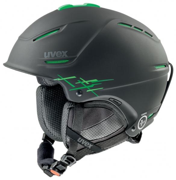 přilba lyžařská UVEX P1US PRO černo/zelená, 52-55