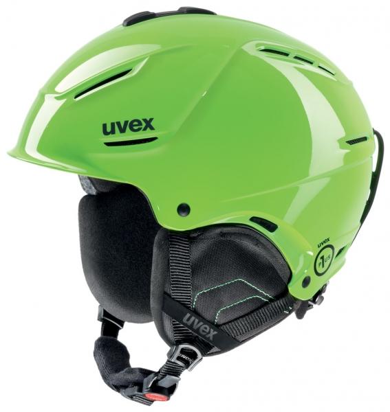 přilba lyžařská UVEX P1US zelená, 52-55