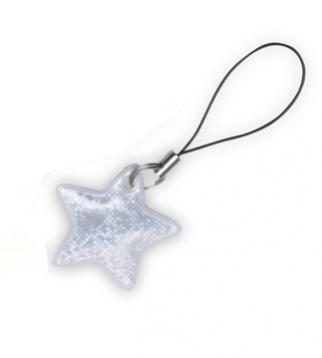 taháček reflexní na zip Hvězda bílá