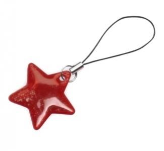 taháček reflexní na zip Hvězda červená