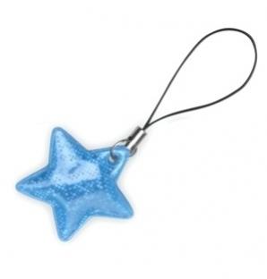 taháček reflexní na zip Hvězda modrá