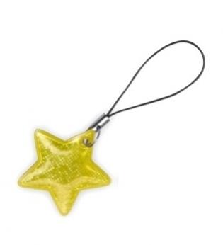 taháček reflexní na zip Hvězda žlutá