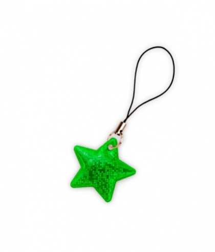 taháček reflexní na zip Hvězda zelená