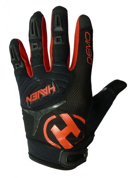 rukavice dětské HAVEN DEMO LONG černo/červené, 1