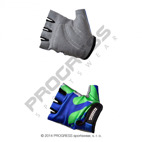 rukavice dětské Progress KIDS modro/zelené, M