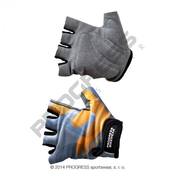 rukavice dětské Progress KIDS šedo/oranžové, M