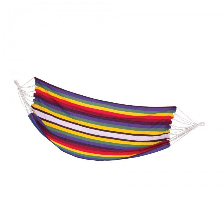 houpací síť Spokey SAMBA barevné pruhy