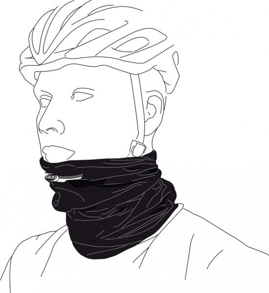 šátek BBB ComfortNeck černý