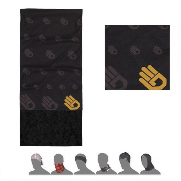 šátek roura SENSOR TUBE FLEECE HAND černý