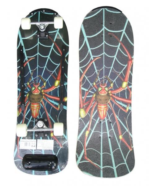 skateboard barevný pavouk dřevěná deska, pavouk