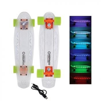 skateboard Tempish BUFFY I-FLASH transparent