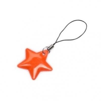 taháček reflexní na zip Hvězda oranžová