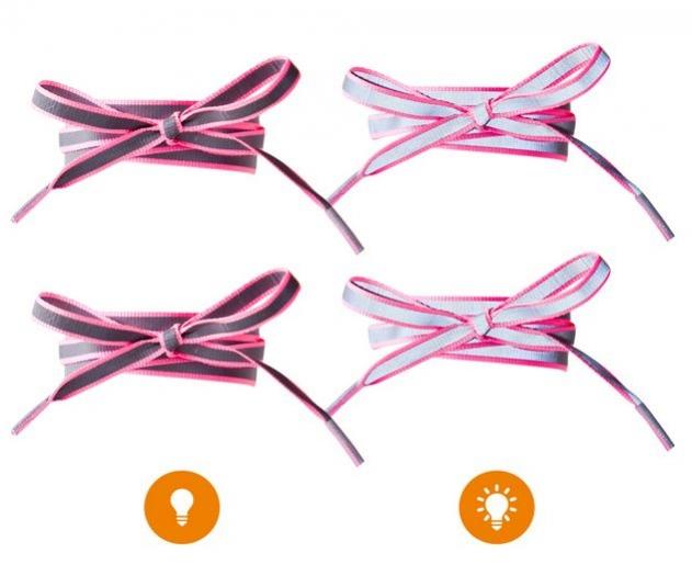 tkaničky reflexní růžové