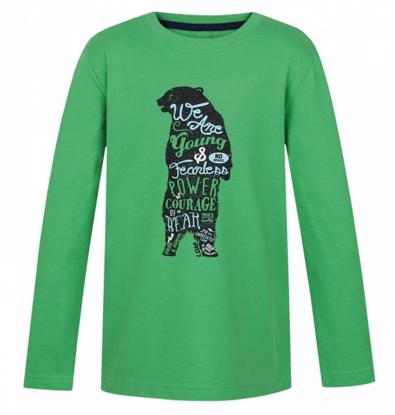 triko dlouhé dětské LOAP IBSEN zelené, 116