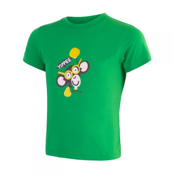 triko krátké dětské SENSOR COOLMAX FRESH PT CHIMPANZEE zelené, 120