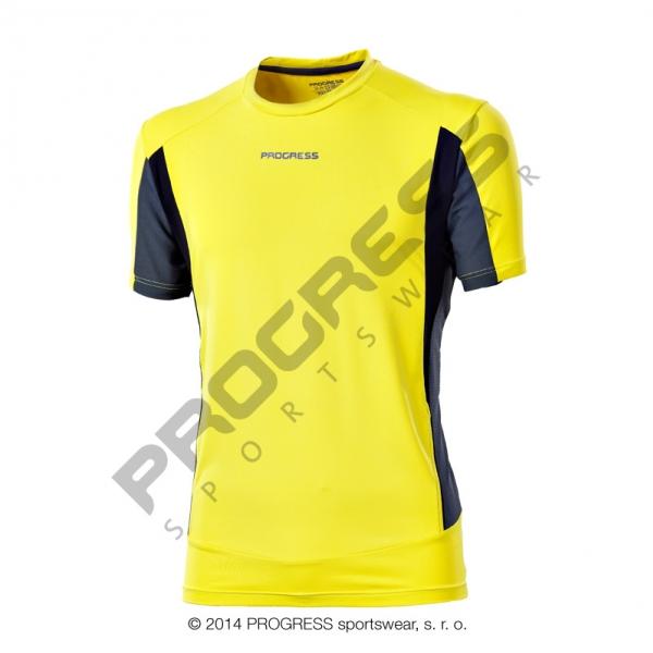 Triko krátké pánské Progress SPRINTER žluto/šedé
