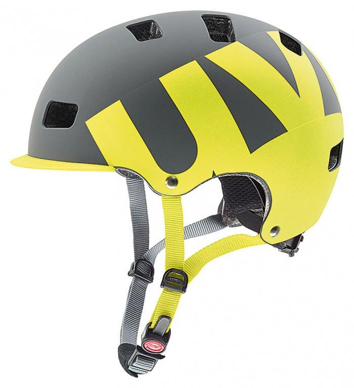 přilba UVEX HLMT 5 Bike Pro šedo/limetková, 55-58